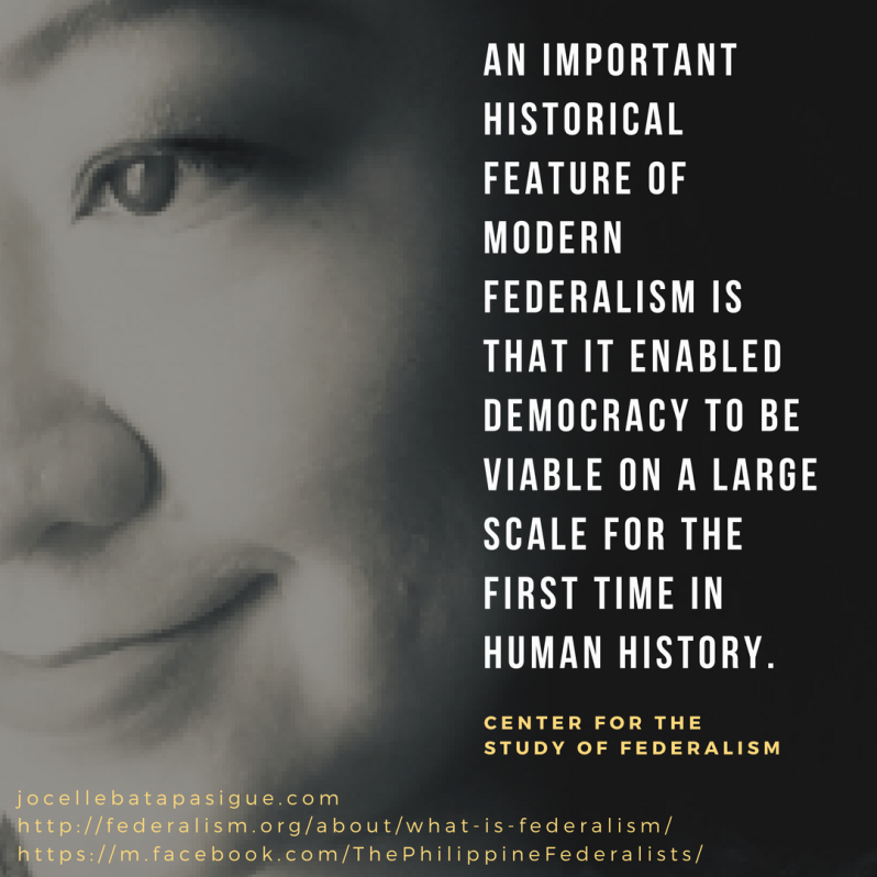 An important historical feature of modern federalism is that it enabled democracy to be viable on a large scale for the first time in human history.