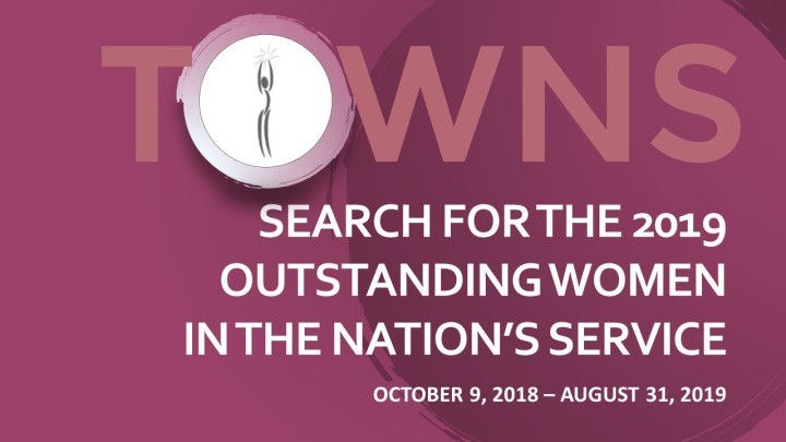 SEARCH FOR 2019 PHILIPPINES OUTSTANDING WOMEN IS ON